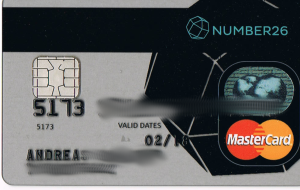 Die Number26 MasterCard Kreditkarte